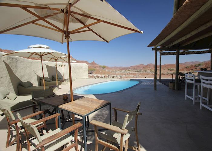 Pool area, Damaraland Camp,Damaraland