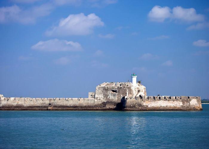 Fort off the coast of Diu Island, Gujarat