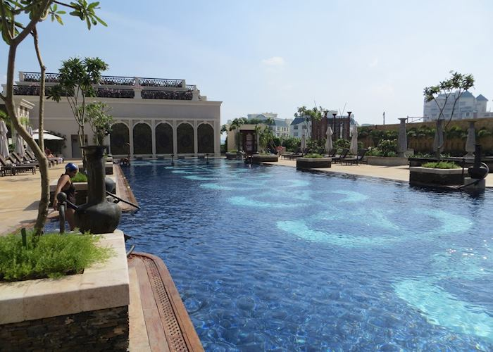 Swimming pool. The Leela Palace, Chennai