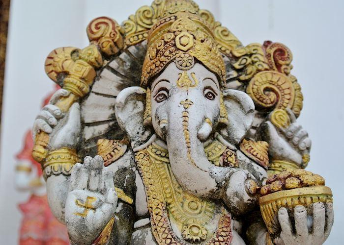 Elephant figure on Chiang Mai Temple, Thailand