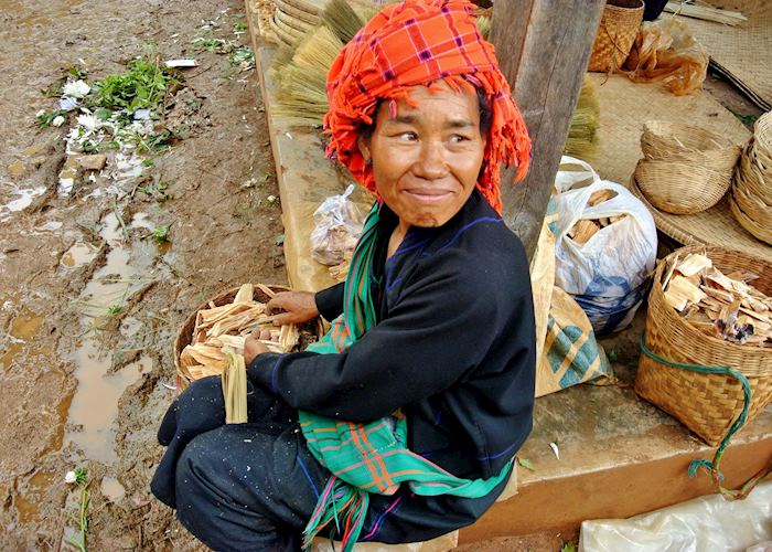 Lady at Heho Market, Burma (Myanmar)