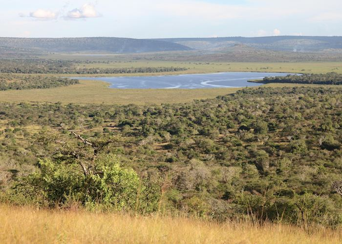 Hilltop views over Lake Mburo National Park