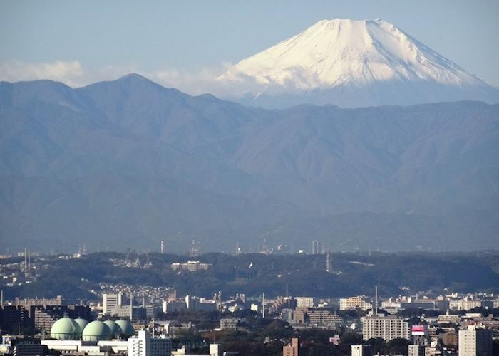 View of Mount Fuji on a clear day from the Tokyo Metropolitan Government Observatories
