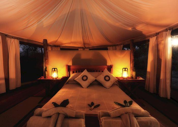 Honeymoon tent, Kanga Bush Camp, Mana Pools
