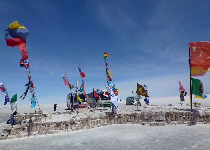 Flag Collection on the Salt Flats, Uyuni