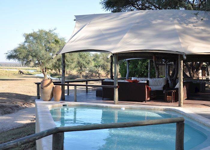 Main Lounge and Pool, Anabezi Camp, Lower Zambezi National Park