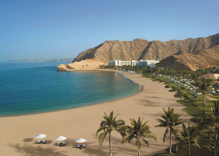 View of Al Bandar and Al Waha beach, Muscat