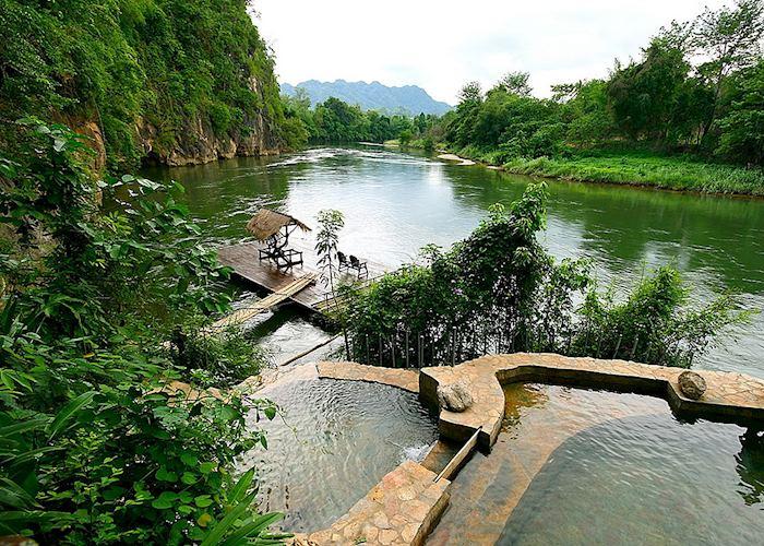 Natural spring pool at the Hintok River Camp