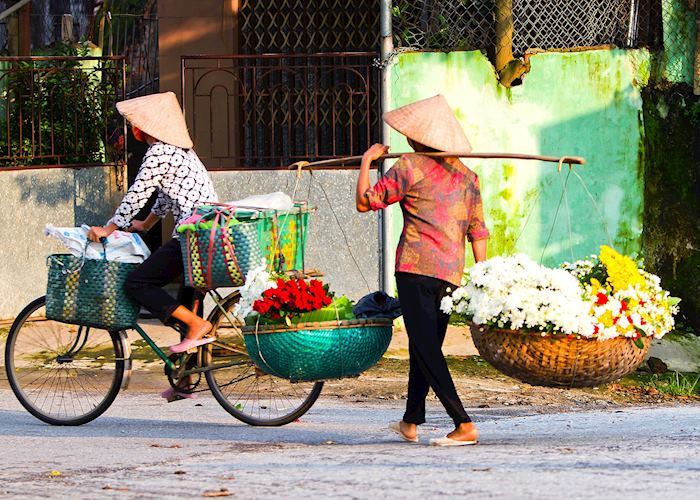 Flower seller in Hanoi,  Vietnam