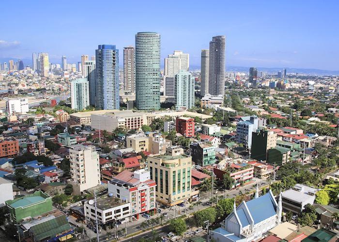 Makati district in Manila, Philippines