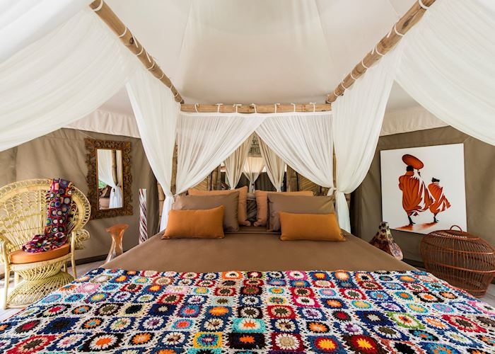 Tent Bedroom, Sandat Glamping Tents, Ubud