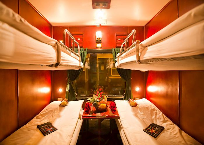 Superior cabin on the Victoria Express Train,Hanoi