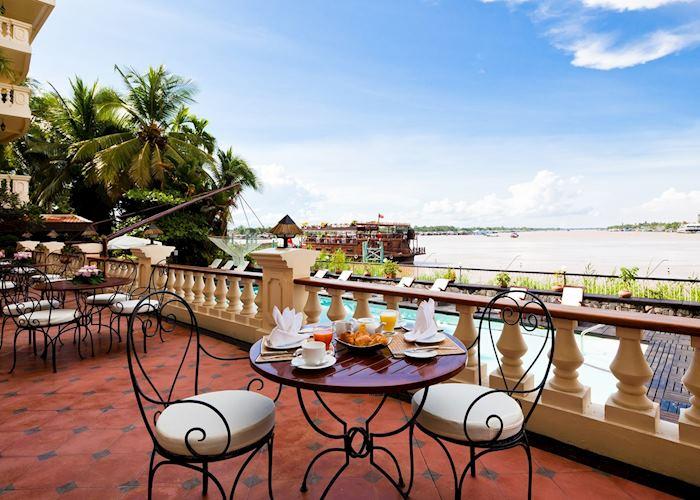 Bassac restaurant terrace, Victoria Chau Doc Hotel