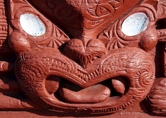 Maori Carving at a Meeting House, Rotorua