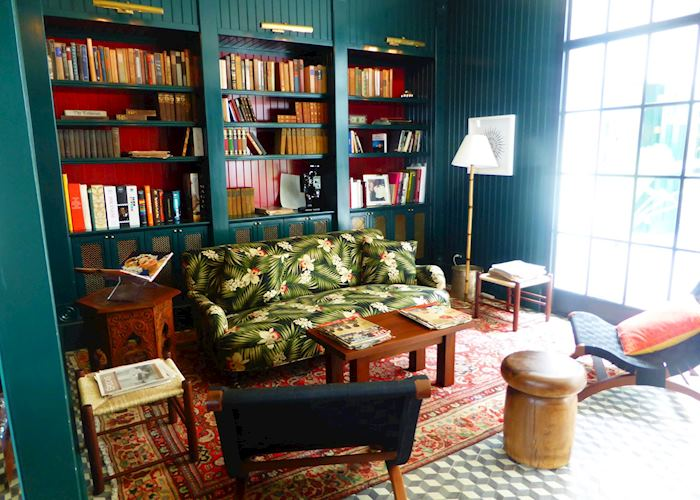 The library at the American Trade Hotel, Panama City