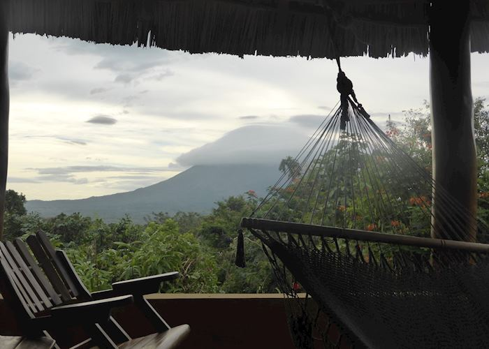 View of Concepción Volcano from Totoco Ecolodge