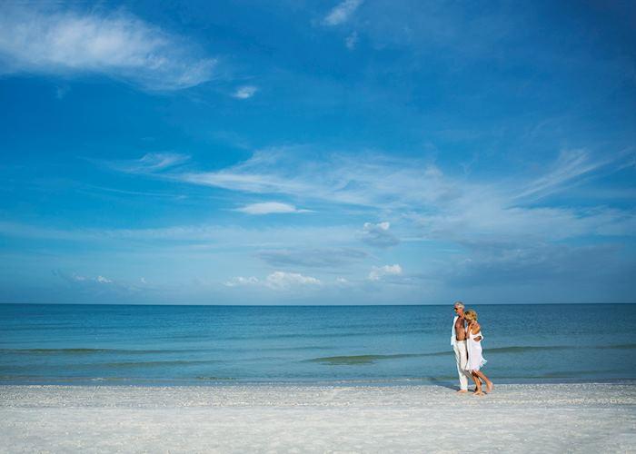 Walking on a beach near Naples