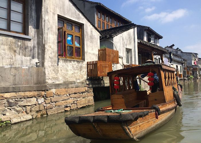 Canal trip in Ancient water town of Tongli