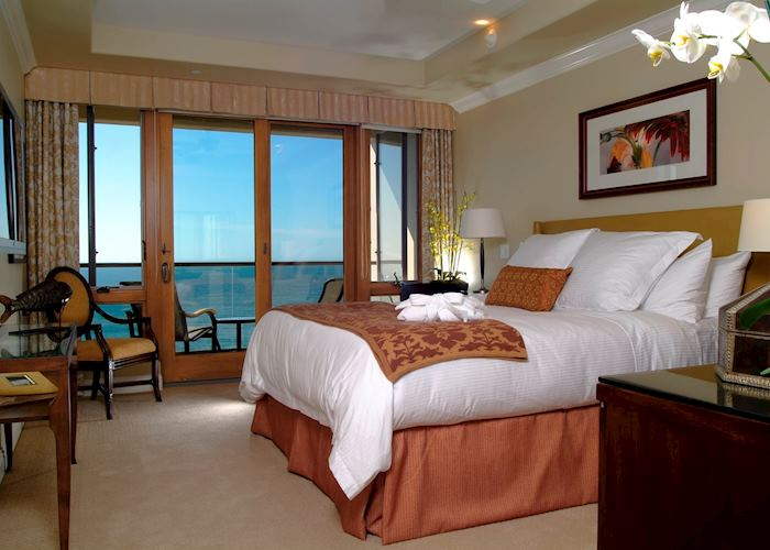 Ocean view suite bedroom, Dolphin Bay Resort & Spa