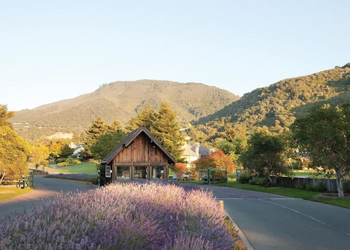 Entrance to Carmel Valley Ranch (Joie de Vivre Hotels)