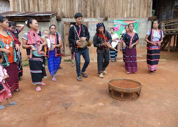 Lahu dancing and traditional musical instruments