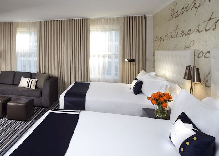 Queen room with sofa, Kimpton Hotel George, Washington D.C.
