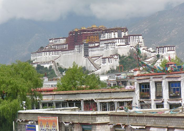 View of Potala Palace, from Dhood Gu Hotel