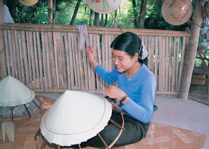 Conical hat making, Vietnam