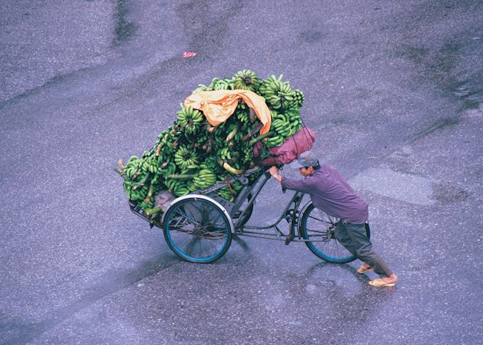 Bananas off to market in Saigon, Vietnam