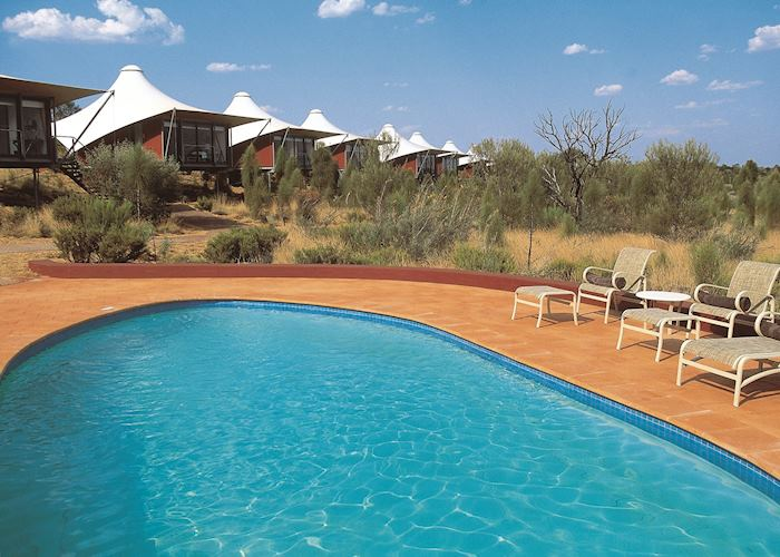 The pool at Longitude 131º, Uluru/Ayers Rock