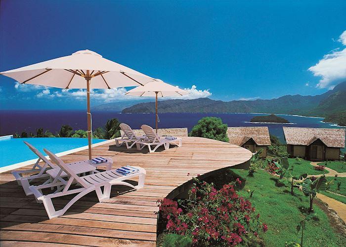 View from the pool, Hanakee Hiva Oa Pearl Lodge, Hiva Oa