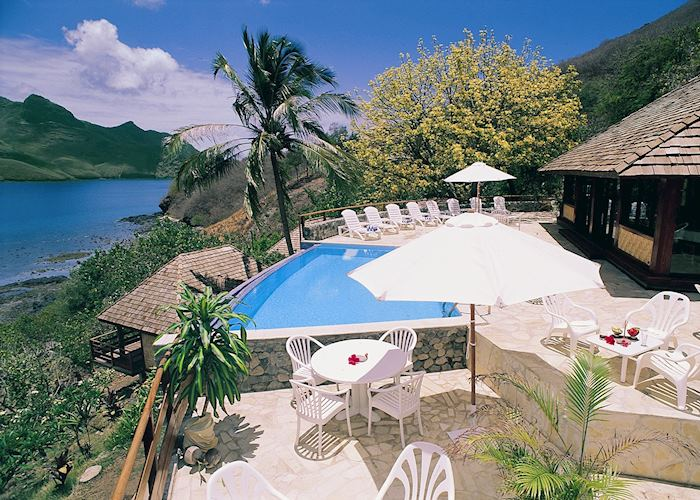 The pool at Keikahanui Pearl Lodge, Nuku Hiva