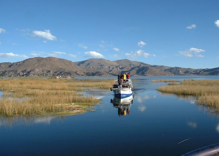 Transport on Lake Titicaca, Peru