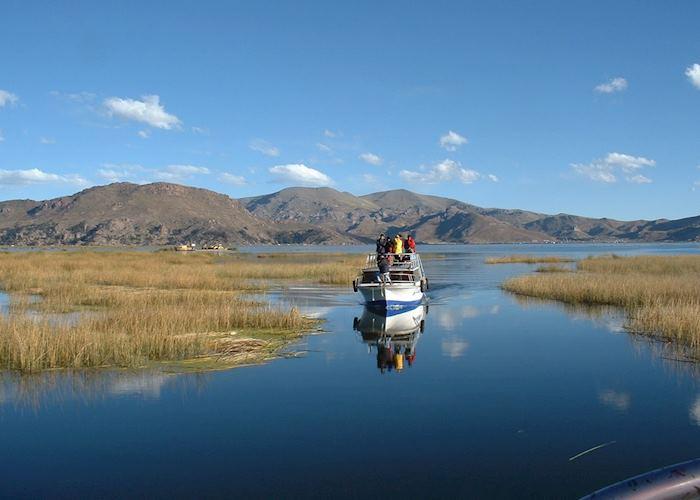 Transport on Lake Titicaca, Peru
