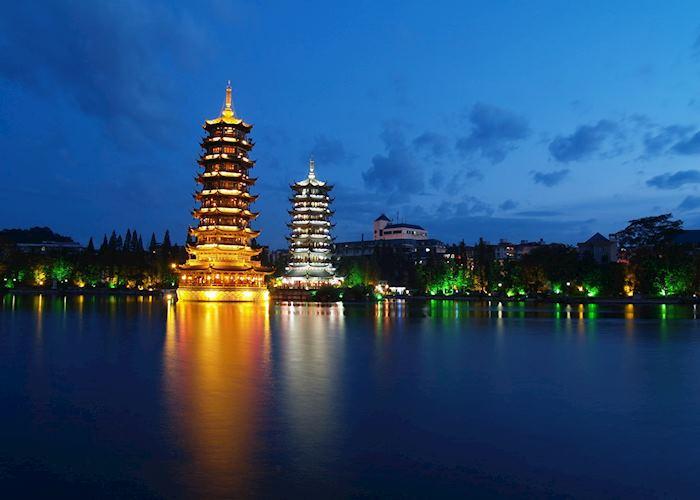 Sun and Moon Pagodas, Guilin