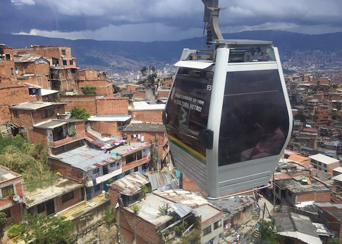 Cable car in Medellin