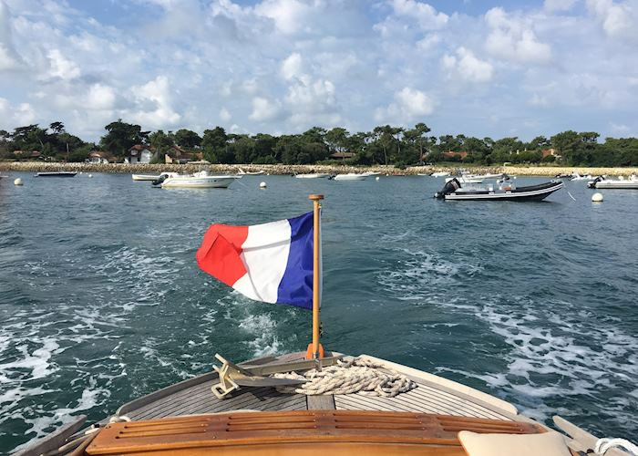 Traditional oyster boat, Cap Ferret, France