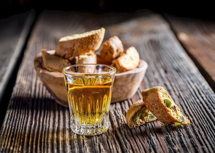 Crispy cantucci with Vin Santo wine, Tuscany