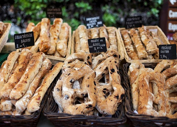 Artisanal bread for sale, Sarlat-la-Canéda