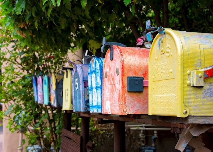 Colorful Vintage Mailboxes