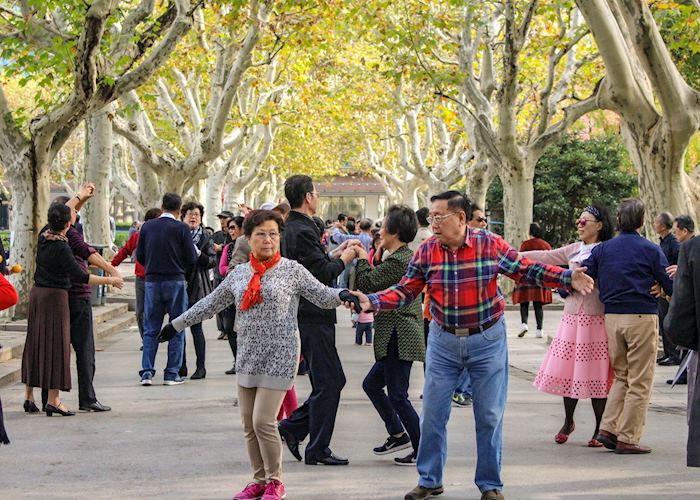 Elderly Dancers in a park in Shanghai's Former French Concession
