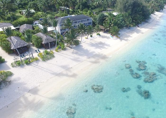 Aerial View of Moana Sands Beachfront Hotel
