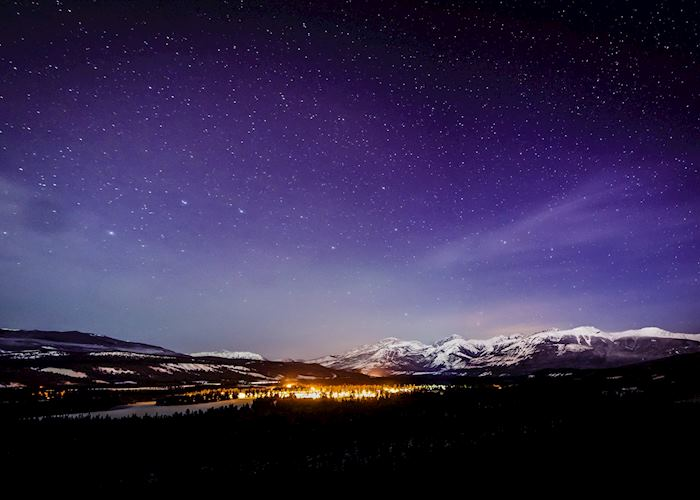Night sky in Jasper National Park