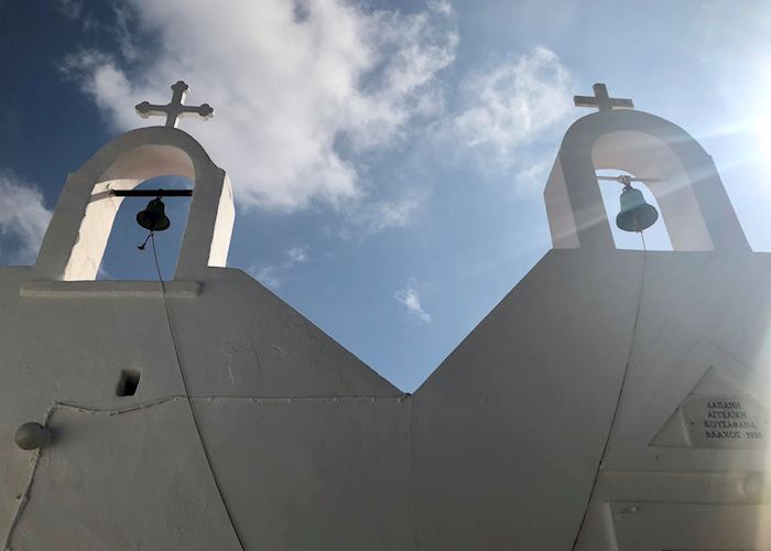 Bell tower of the Church of Agios Ioannis, Mykonos