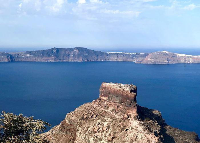View of Skaros rock from Imerovigli, Santorini