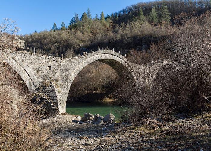 Ottoman stone bridge, Pindus Mountains