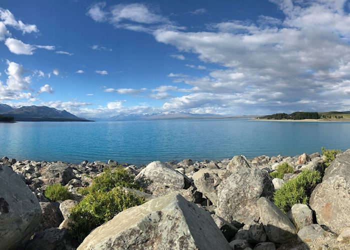 View over Mount Cook and Lake Pukaki