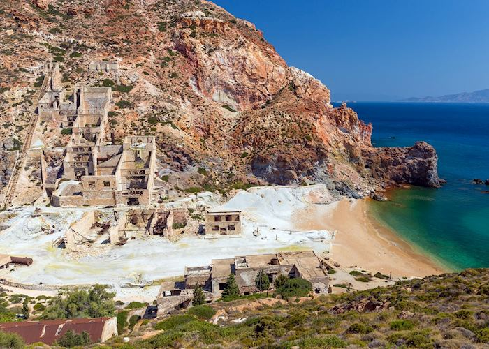 Abandoned sulphur miles, Milos