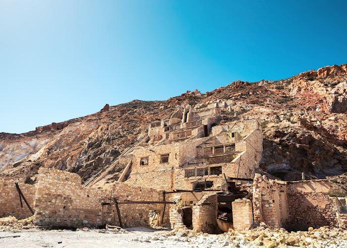 Abandoned sulphur mines, Milos