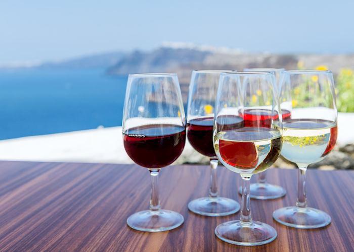 Wine tasting, Santorini